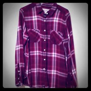 Mossimo boyfriend fit flannel size L